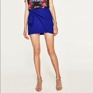Zara blue mini skirt